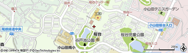 東京都町田市小山田桜台周辺の地図