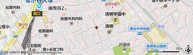 東京都大田区南雪谷周辺の地図