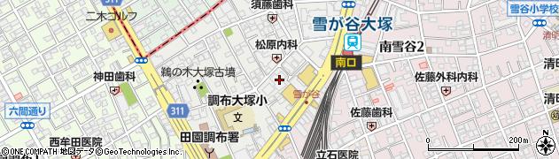東京都大田区雪谷大塚町周辺の地図