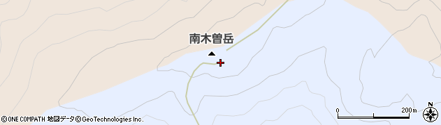南木曽岳周辺の地図