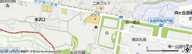 神奈川県川崎市宮前区水沢周辺の地図