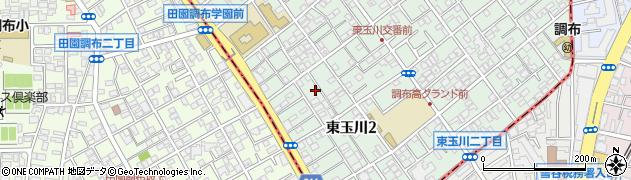 東京都世田谷区東玉川周辺の地図