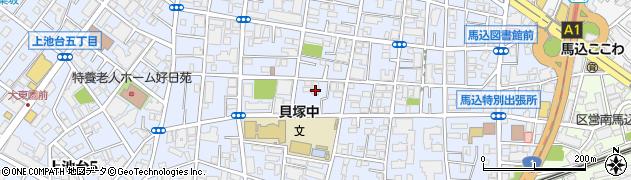 東京都大田区中馬込周辺の地図