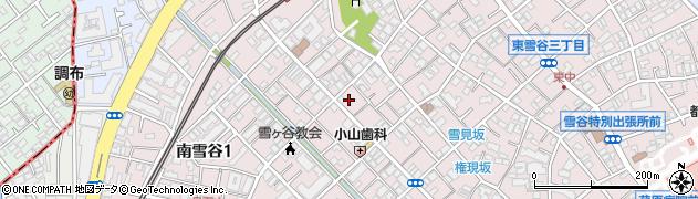 東京都大田区東雪谷周辺の地図