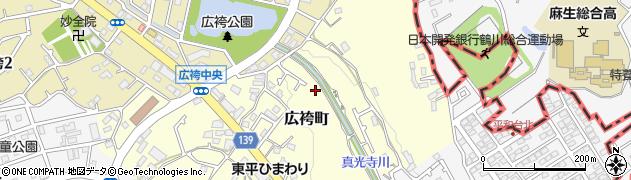 東京都町田市広袴町周辺の地図