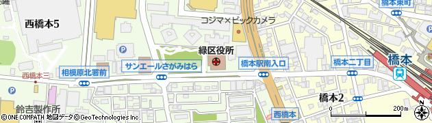 神奈川県相模原市緑区周辺の地図