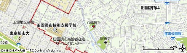 田園調布八幡神社周辺の地図