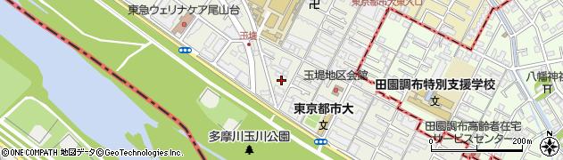東京都世田谷区玉堤周辺の地図