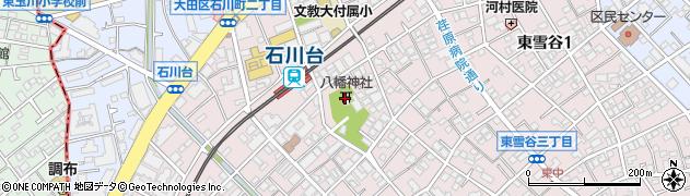 雪ケ谷八幡神社周辺の地図