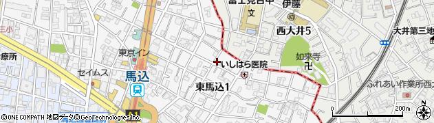 東京都大田区東馬込周辺の地図