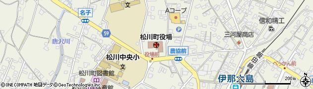 長野県下伊那郡松川町周辺の地図