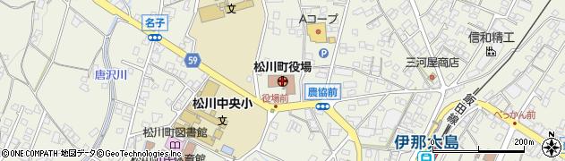 長野県松川町(下伊那郡)周辺の地図