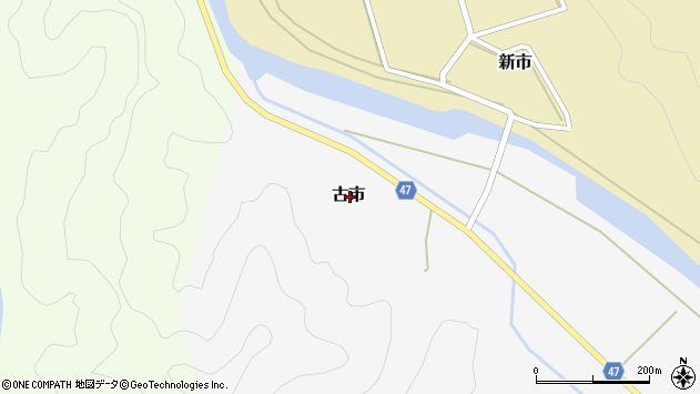 〒669-6743 兵庫県美方郡新温泉町古市の地図