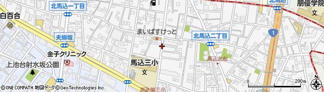 東京都大田区北馬込周辺の地図