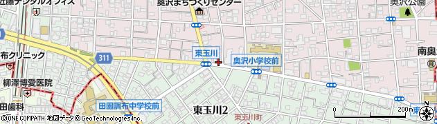 釜寅 田園調布店周辺の地図