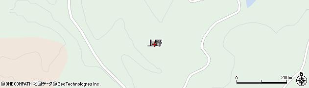 岐阜県中津川市上野周辺の地図