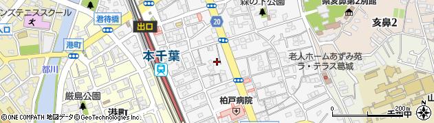 千葉県千葉市中央区長洲2丁目7周辺の地図