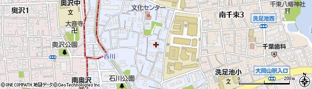 東京都大田区石川町周辺の地図