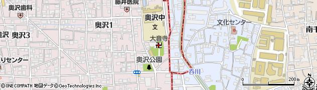 大音寺周辺の地図