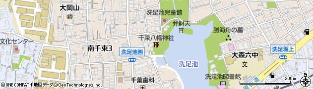 千束八幡神社周辺の地図