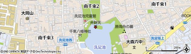 洗足池弁財天周辺の地図