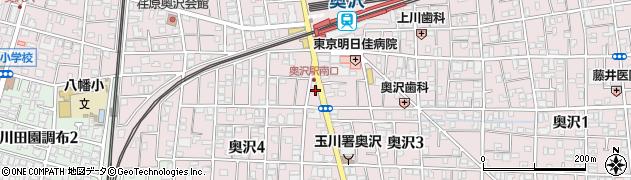東京都世田谷区奥沢周辺の地図