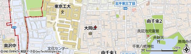 東京都大田区南千束周辺の地図
