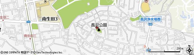 神奈川県川崎市多摩区南生田周辺の地図
