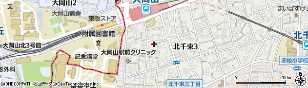 東京都大田区北千束周辺の地図