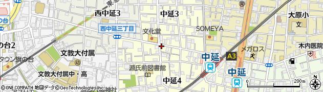 東京都品川区中延周辺の地図
