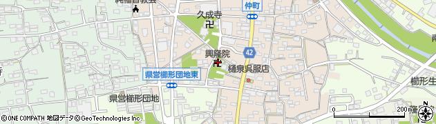 興隆院周辺の地図