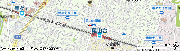 東京都世田谷区等々力周辺の地図