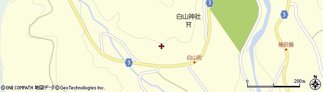 岐阜県中津川市川上(上平)周辺の地図