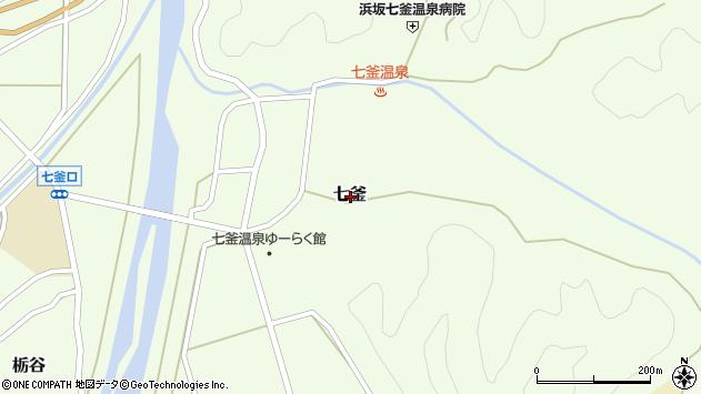 〒669-6741 兵庫県美方郡新温泉町七釜の地図