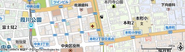 千葉県千葉市中央区周辺の地図