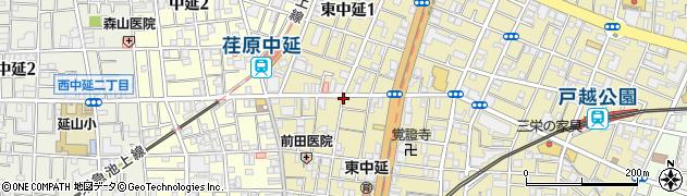 東京都品川区東中延周辺の地図