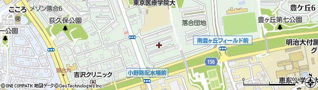 都営落合団地周辺の地図