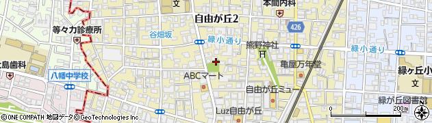 東京都目黒区自由が丘周辺の地図