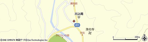 岐阜県中津川市川上(矢柱)周辺の地図