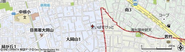 東京都目黒区大岡山周辺の地図