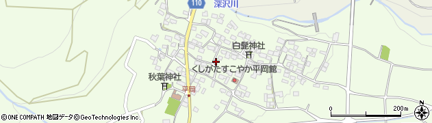 山梨県南アルプス市平岡周辺の地図