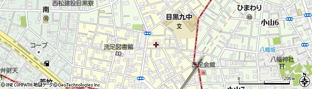 東京都目黒区洗足周辺の地図