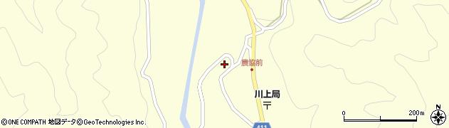 岐阜県中津川市川上周辺の地図