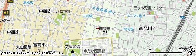 東京都品川区豊町1丁目周辺の地図