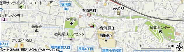 八幡社周辺の地図