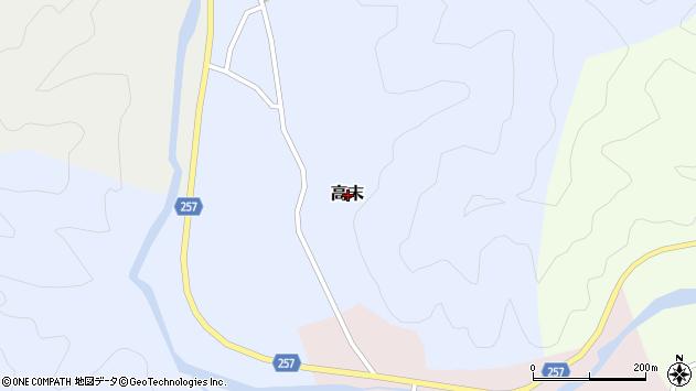 〒669-6722 兵庫県美方郡新温泉町高末の地図