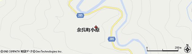 滋賀県長浜市余呉町小原周辺の地図