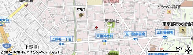 東京都世田谷区中町周辺の地図