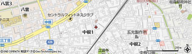 東京都目黒区中根周辺の地図