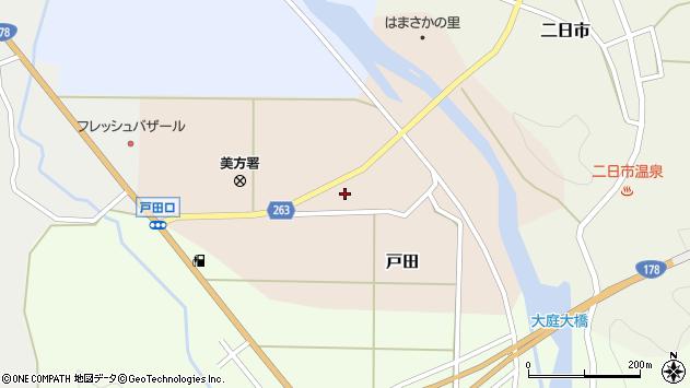 〒669-6746 兵庫県美方郡新温泉町戸田の地図